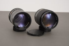 lot of 2x portrait lenses, 135mm 1:2.8: Vivitar and Unitax MC, both with M42 mount
