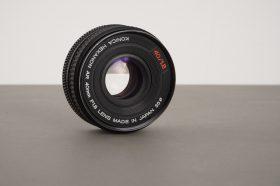 Konica Hexanon AR 40mm 1:1.8 pancake lens