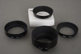 lot of 3x genuine Nikon lens hoods: HN-1, HB-6, HS-7