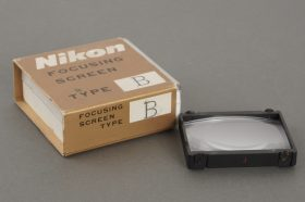 Nikon Type J focusing screen for F and F2 camera, in wrong box