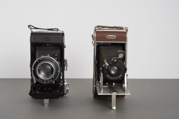 2x folding cameras: Luminor and Zeiss Ikon Ikonta 521/2