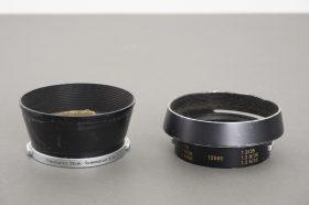 Leica Leitz lens hoods for Summicron + Summaron, lot of 2