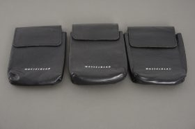 3x Hasselblad pouch, probably for Hasselblad flightcase, approx. 12x14cm