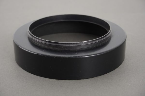 Hasselblad lens hood for 50mm Distagon lens, 63mm screw-in