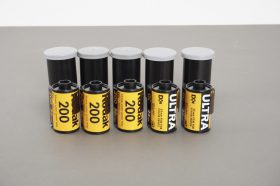 5x Kodak 135 / 35mm color films: Gold 200 and ULTRA