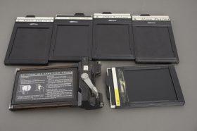 Lot of 5x 4×5 DDS film holders, Fidelity Elite + 545 Polaroid holder