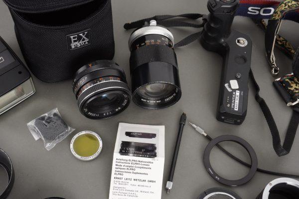 various accessories, lenses, tubes, filters etc. – incl. Pentax, Rollei, Nikon stuff