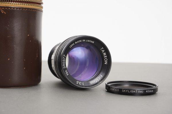Tamron 135mm 1:3.5 pre-set version with round aperture, M42 mount