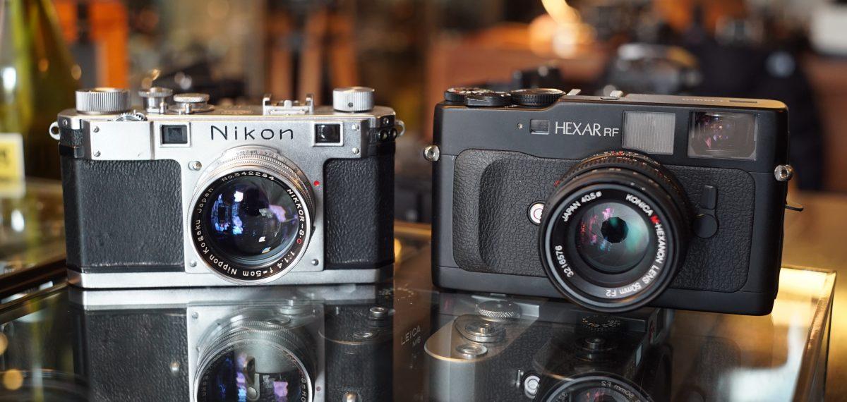 nikon S and Konica Hexakr RF