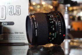 Canon Macro Lens FD 50mm 1:3.5 + Tube FD 25, boxed