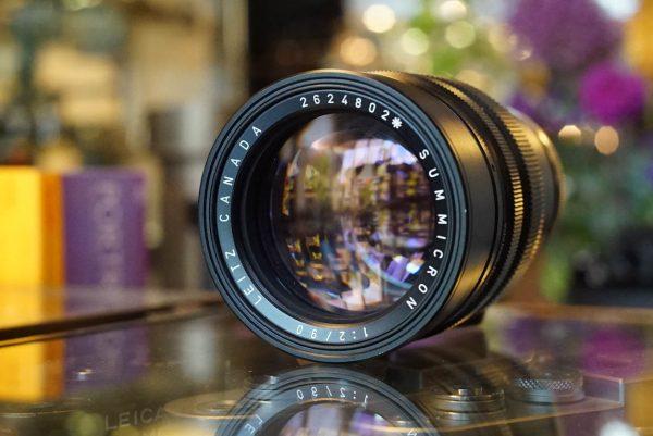 Leica Leitz Summicron 1:2 / 90mm lens