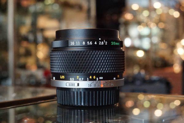 Olympus OM Zuiko 28mm 1:2 lens