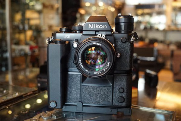 Nikon F3 + Nikkor 1:1.4 / 50mm AIs lens and MD-4