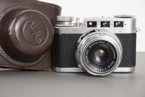 Diax Ia camera with Schneider Xenar 45mm 1:2.8 lens, in case