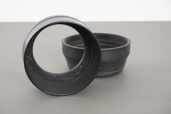 Contax G-13 67mm rubber hood + Metal Hood 4 + 67-86 ring