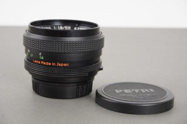 Petri CC Auto 55mm 1:1.8 lens in M42 mount