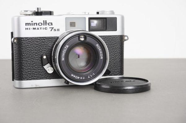 Minolta Hi-Matic 7s II rangefinder camera with 1.7/40 Rokkor lens