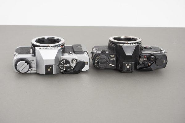 Olympus OM-4 + Olympus OM-20 cameras, with issues