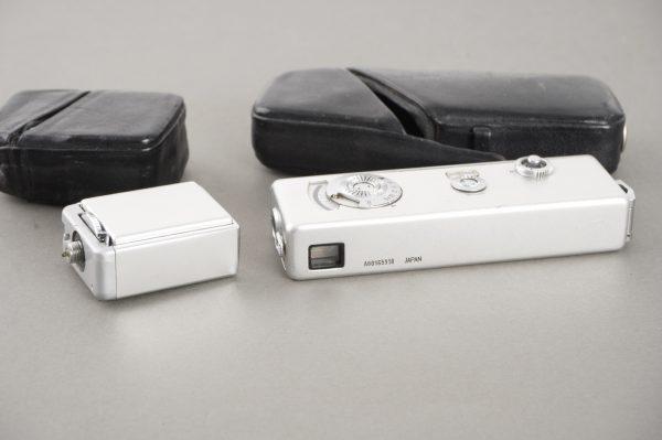 Yashica Atoron miniature camera + flash