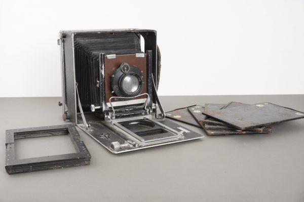 Linhof 13×18 camera with Carl Zeiss Jena Tessar 18cm 1:4.5 + some holders