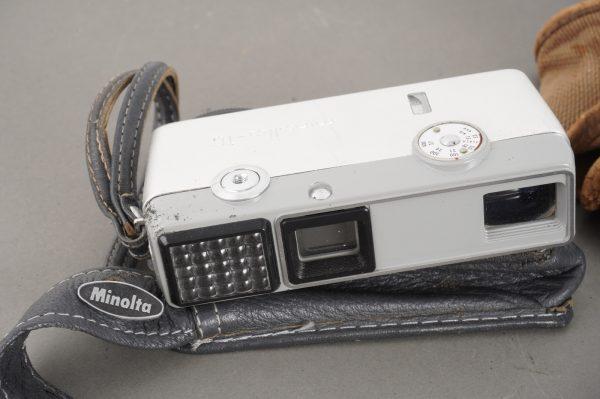Minolta 16, Univex AF-2, Ensign – lot of 4x miniature cameras