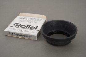 Rollei Rolleiflex lens hood for 35mm and 50mm lenses on SL35 – boxed