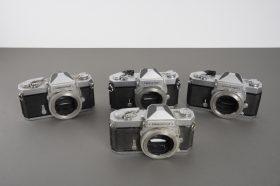 lot of 4x defective Nikon Nikkormat cameras: 3x FT N + 1x FT