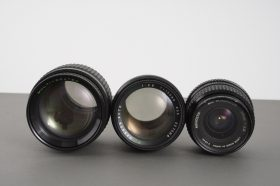 3x vintage lenses, with issues: Minolta 2.8/28,Magnon 2.8/135, Makinon 2.5/135
