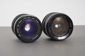 2x Minolta MD mount lenses, both fungused