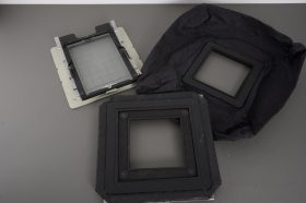 Wide angle bellows, normal bellows, screen in holder for Cambo camera