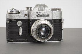 Kristal SLR camera with Industar-50 3.5/50 lens in M39 SLR mount, rare