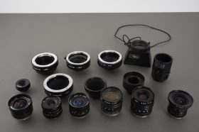 Lot of TV lenses and C-mount adapters