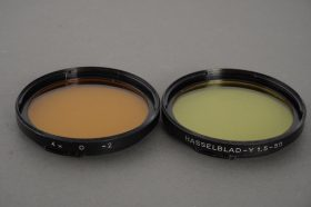 Hasselblad yellow and orange filters in B50 mount