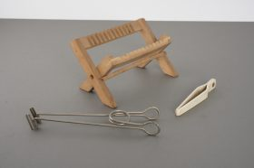 Wooden rack for wet plates + 2x various plate holders