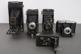 lot of 5x vintage folding cameras – as per pictures