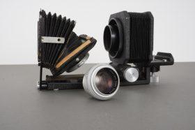 Leica Leitz Hektor 13.5cm 1:4.5 lens head on macro bellows + slide copier