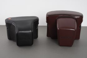 Leica Leitz leather everready cases for Leica R / SL cameras, lot of 2
