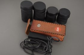 Leica Leitz 4x leather lens pouch for R lenses + 37939 remote