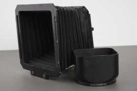 Hasselblad B50 lens hood for C Sonnar 150mm lens + worn compendium