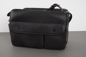 genuine Leica / Leitz 14846 leather outfit bag, approx. 33x21x18cm externally