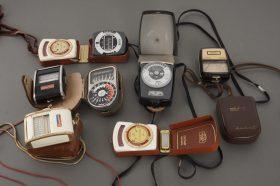 8x vintage lightmeters