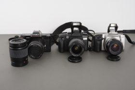 3x Minolta AF cameras + 4x AF lenses