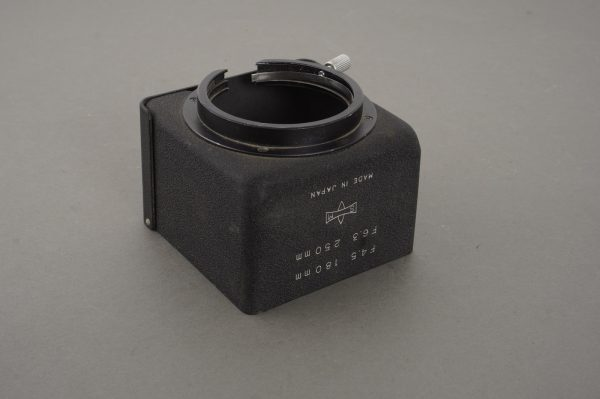 Mamiya Sekor 180mm 1:4.5 and 250mm 1:6.3 lens hood for TLR