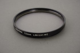Contax 72mm L39 UV filter, MC (Multicoated)
