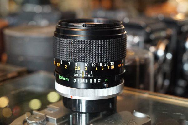 Canon lens FD 2.8 / 100mm S.S.C.