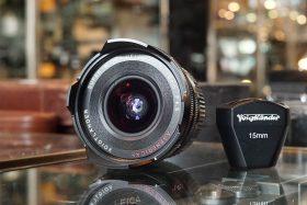 Voigtlander Super Wide Heliar 15mm f4.5, for Leica M