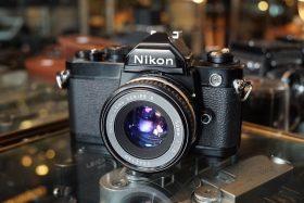 Nikon FM black + E 50mm f/1.8 AIS