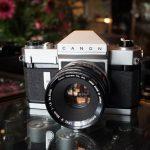 Canonflex RP + Canon Super Canomatic R 50mm 1:1.8 lens