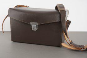 Leica Leitz leather outfit case, 30x17x13 cm externally
