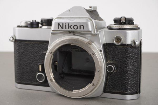 Nikon FE camera body, chrome